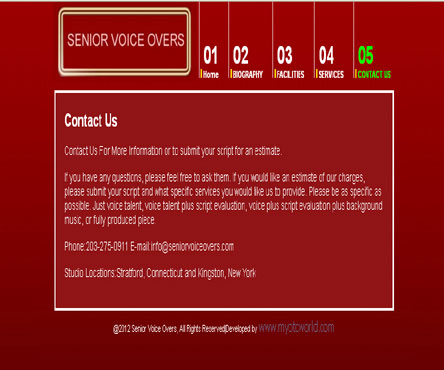 Recording studio website designing